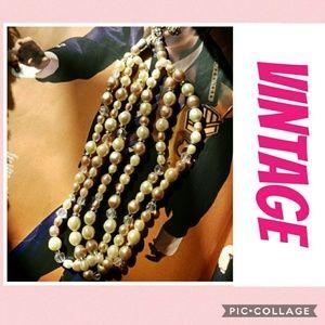 Graduated pastel vintage pearls